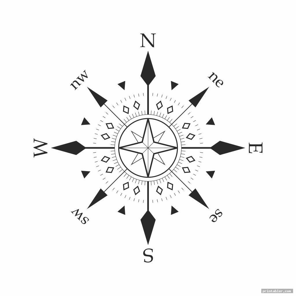 simple compass template printable