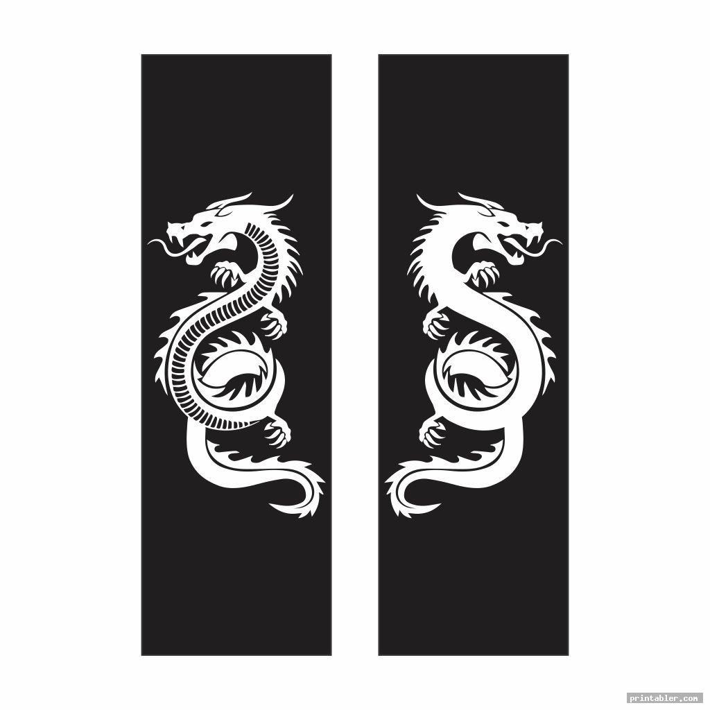 simple dragon bookmarks printable