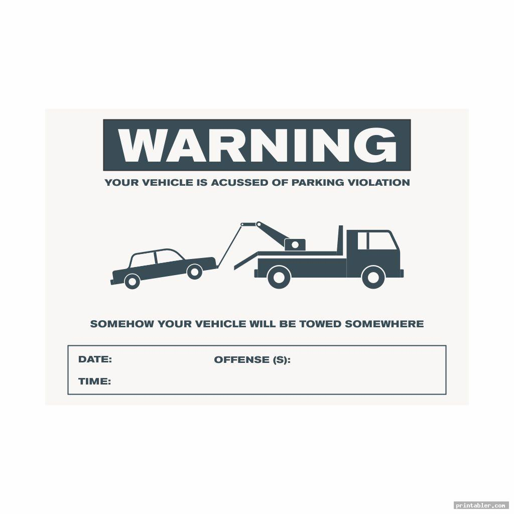 simple fake parking ticket template word printable