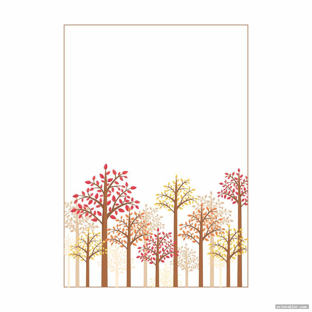 simple fall stationery template printable