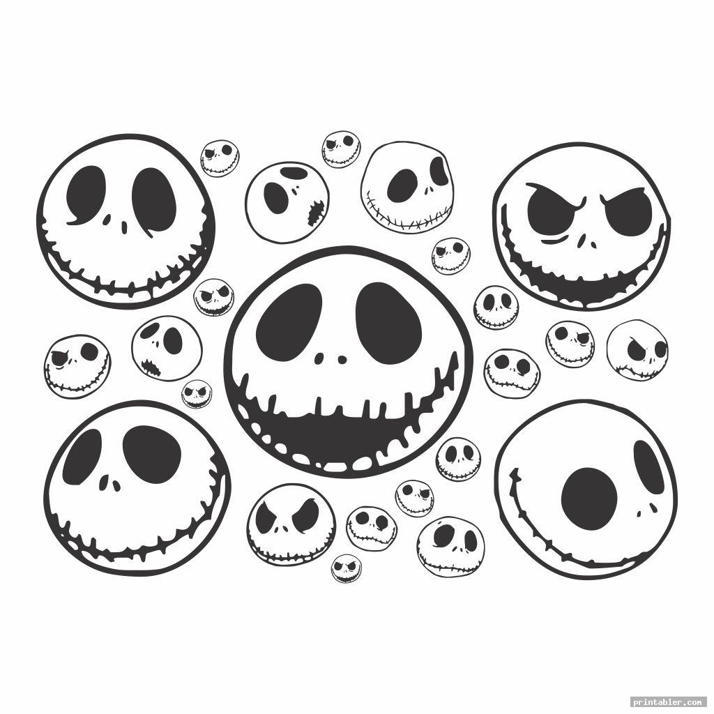 Jack Skellington Coloring Pages and Stencil Printable
