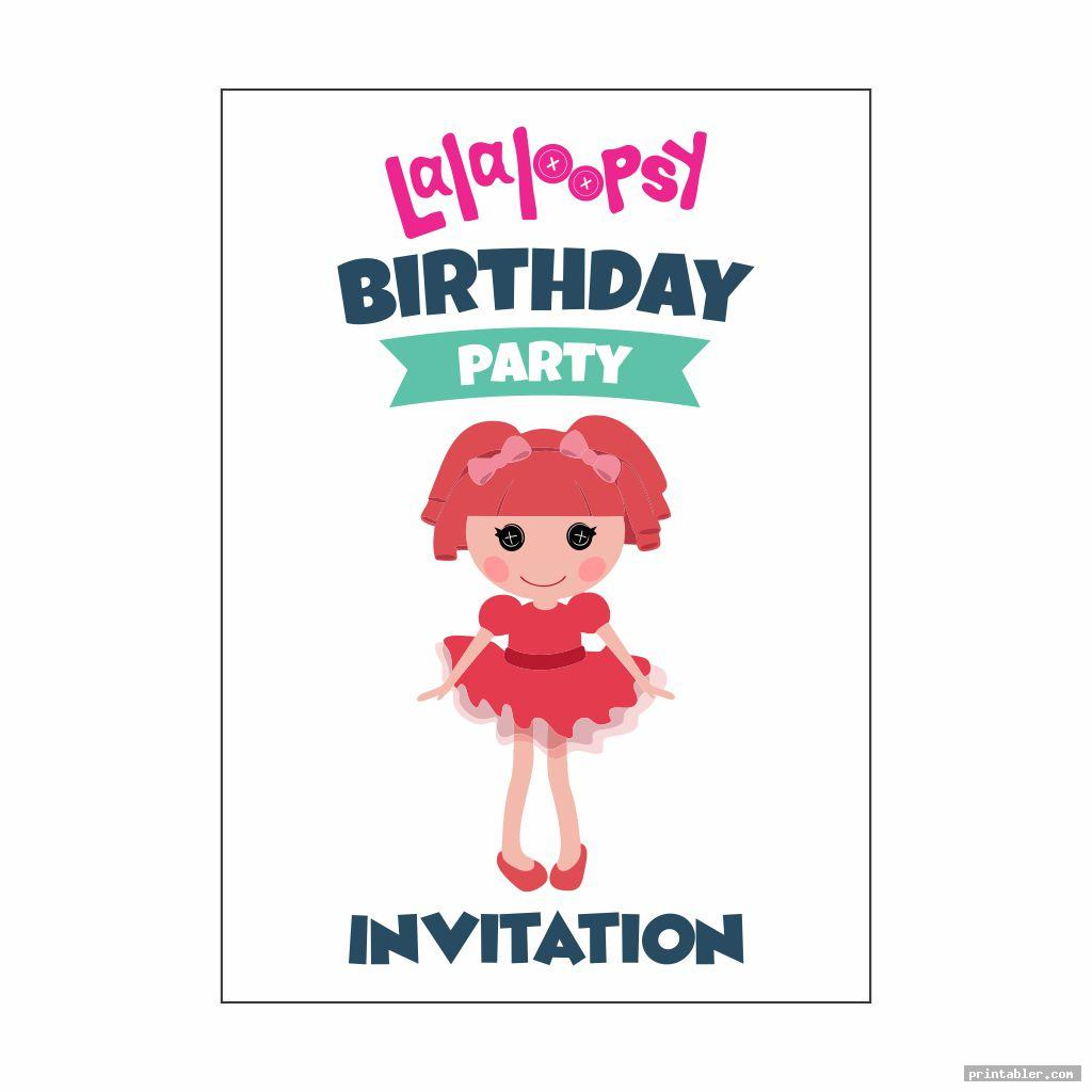 simple lalaloopsy birthday invitations printable