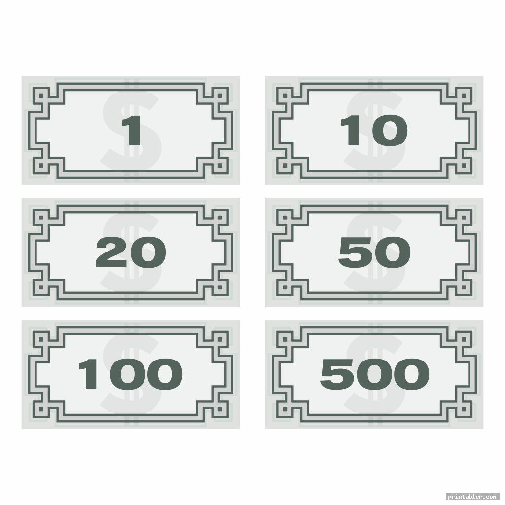 simple monopoly money templates printable
