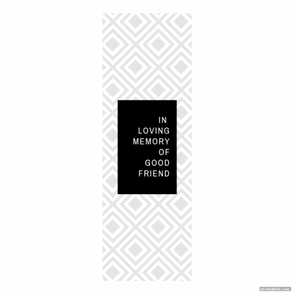simple obituary bookmark template printable