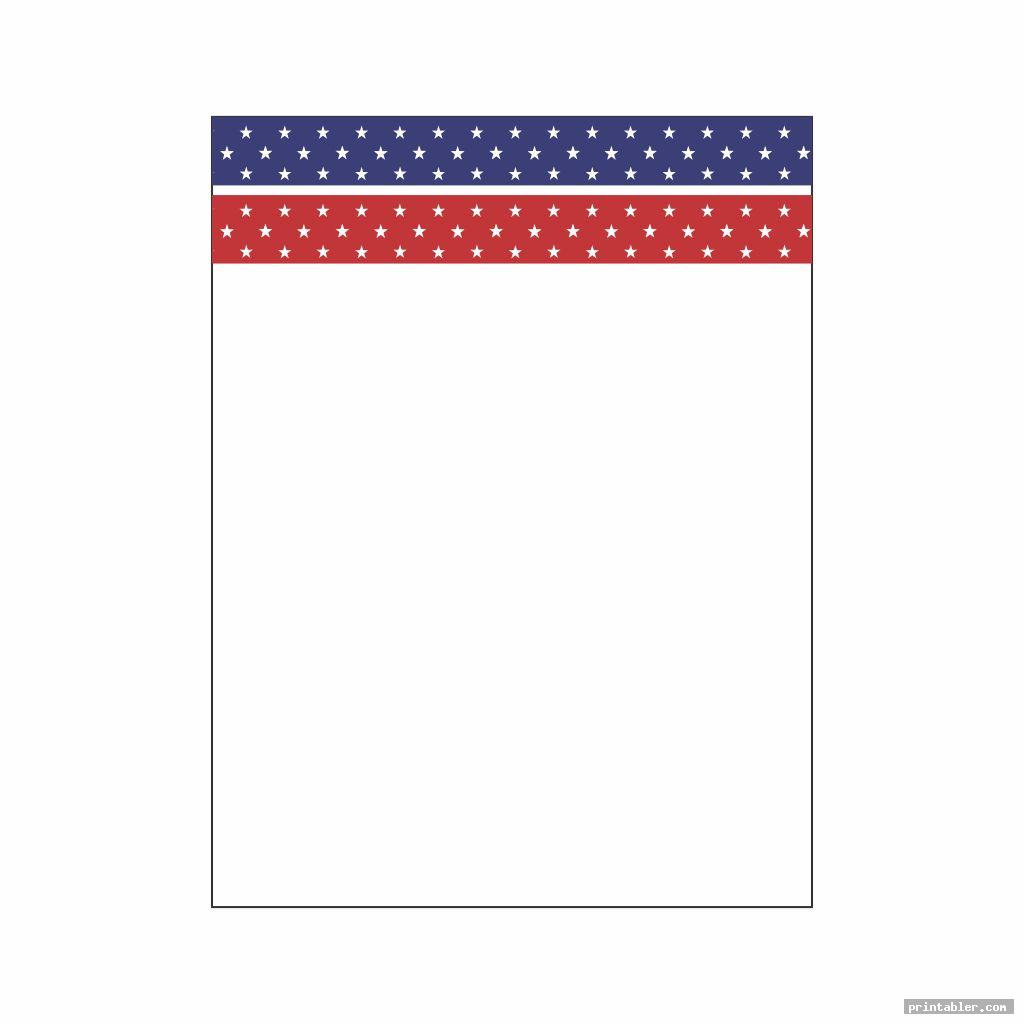 simple patriotic stationary printable