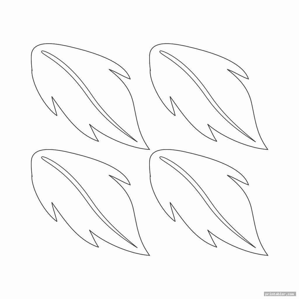 simple poinsettia leaf template printable