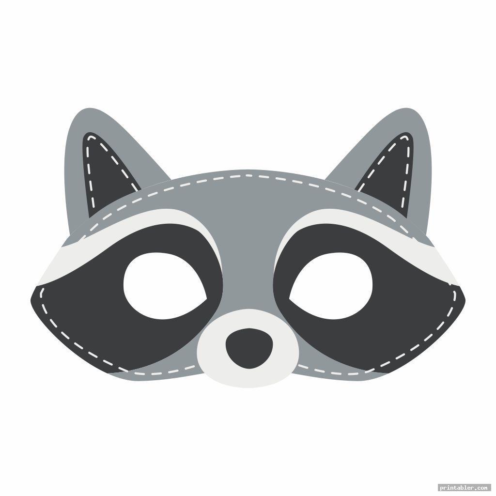 simple raccoon mask printable