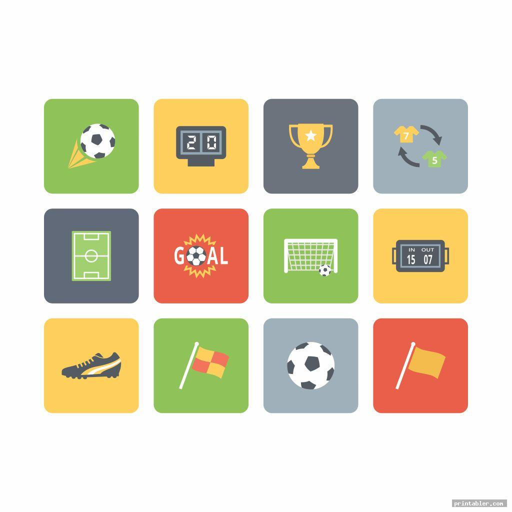 Soccer Icons, Field, Uniform and Logo Printable
