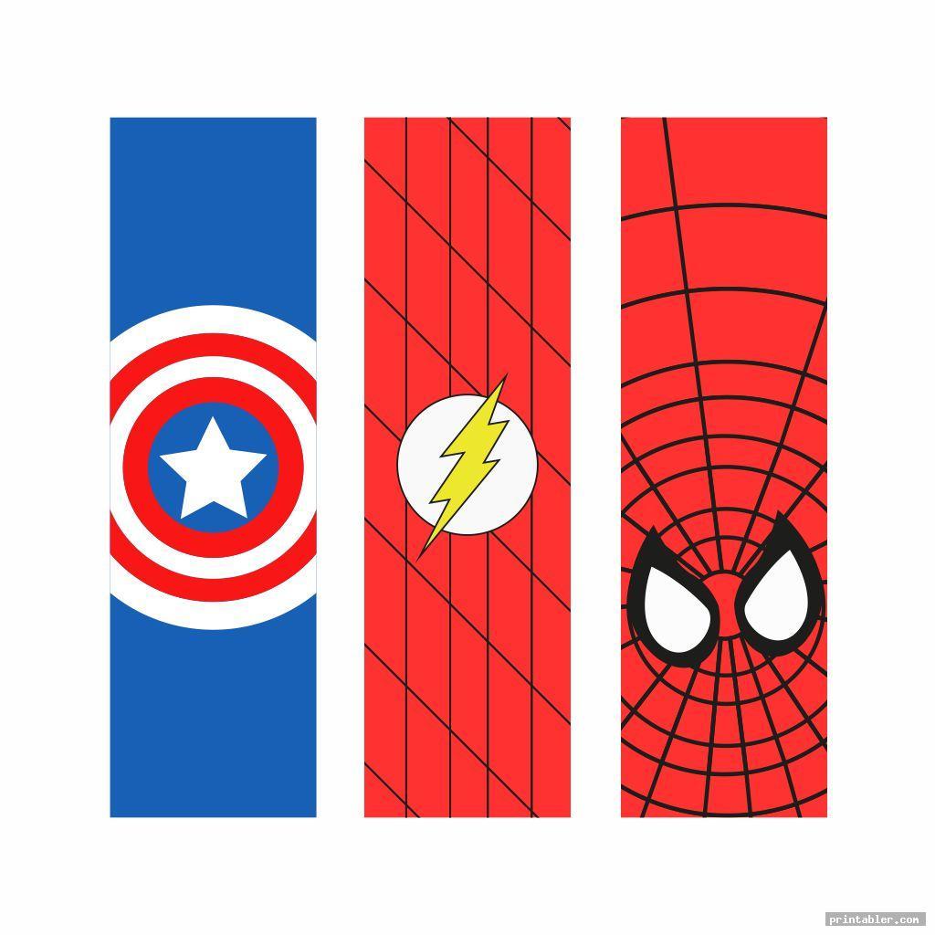 simple superhero bookmarks printable