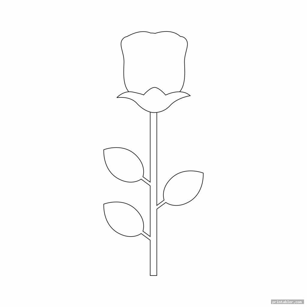 simple tulip template printable