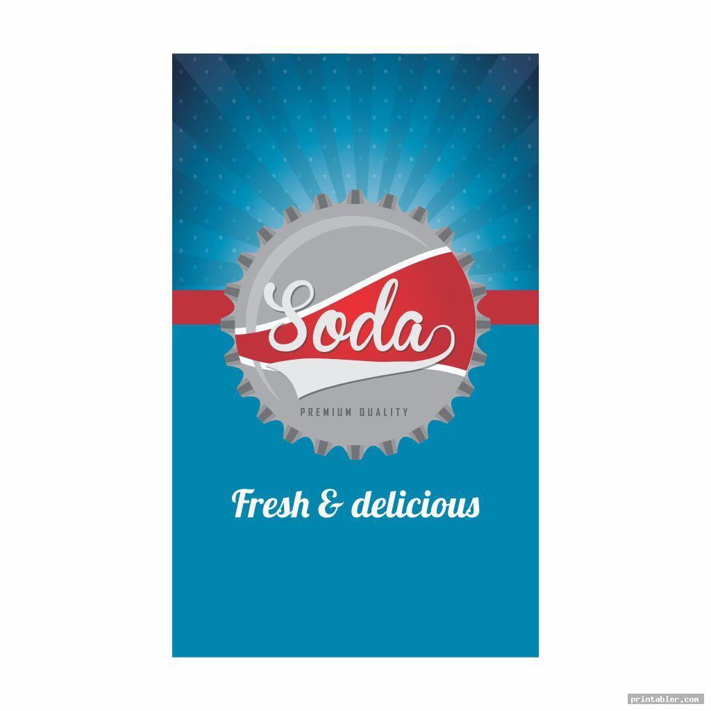 soda vending machine labels printable image free