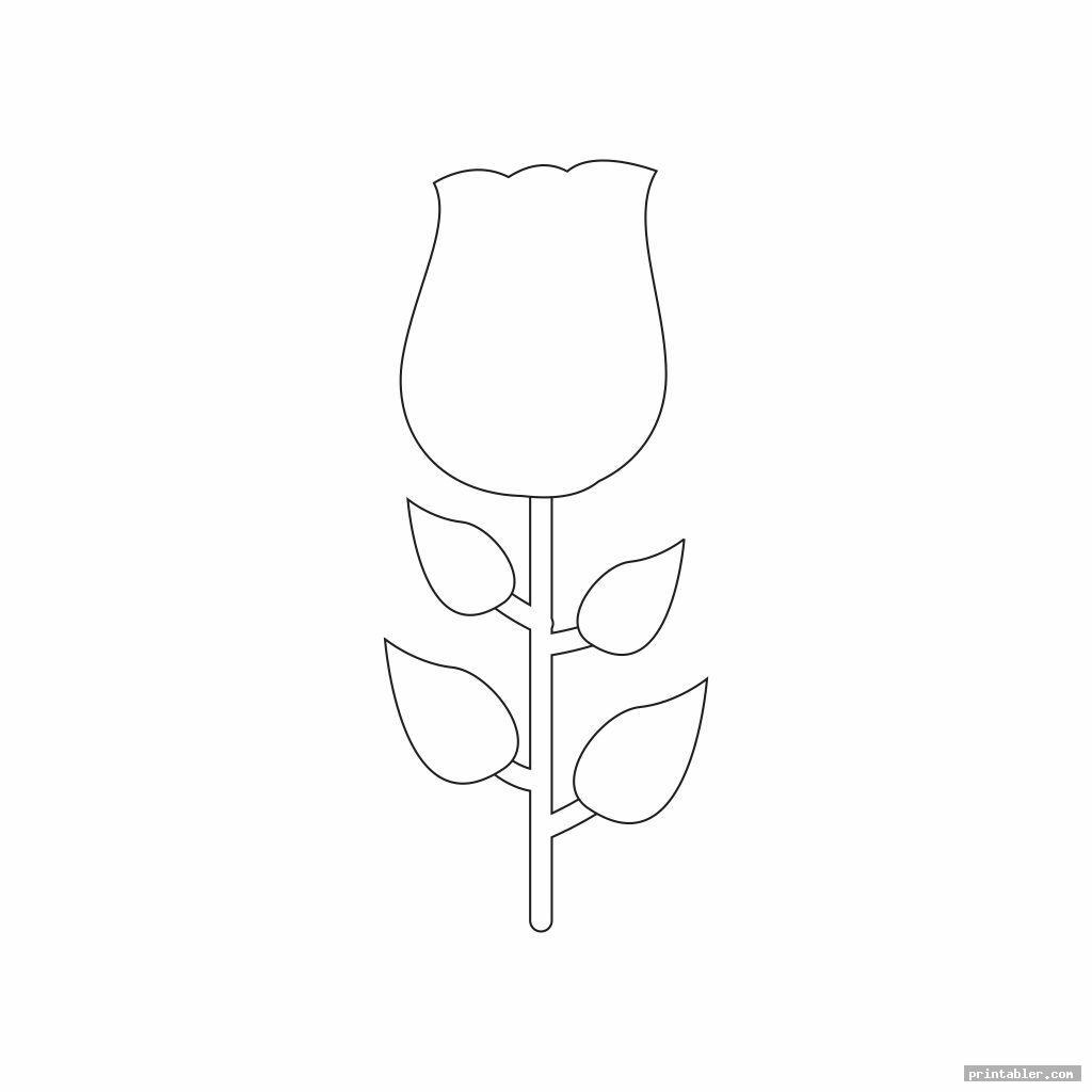 tulip template printable image free