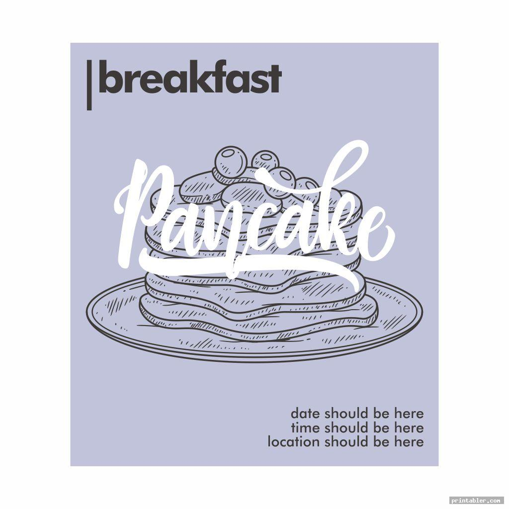 vintage pancake breakfast flyer template printable