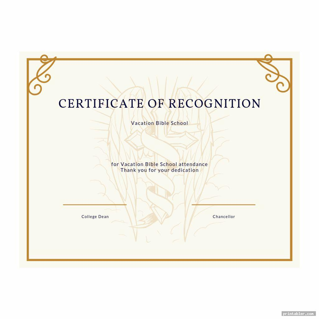 vintage vacation bible school certificate templates printable