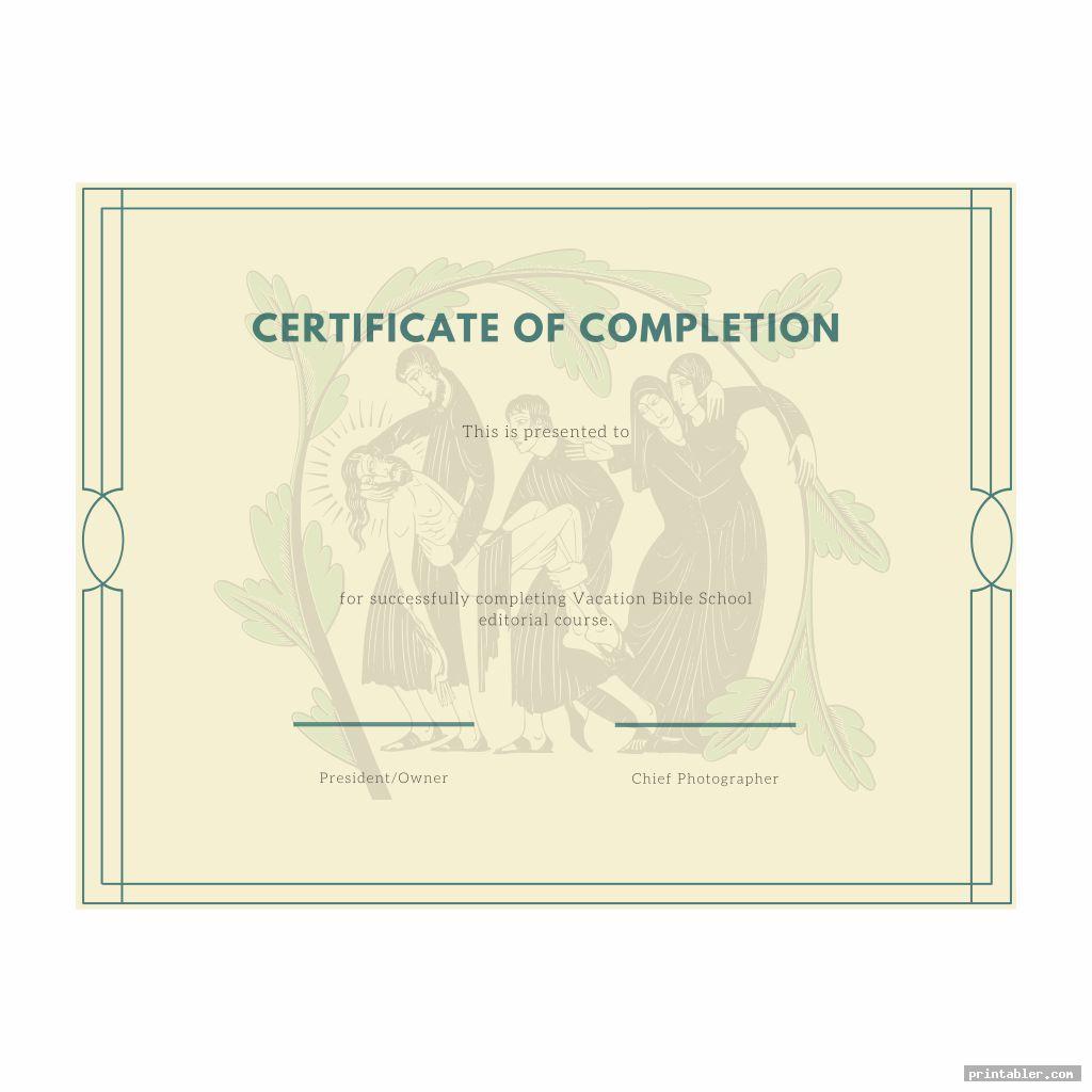 vintage vbs certificate templates printable