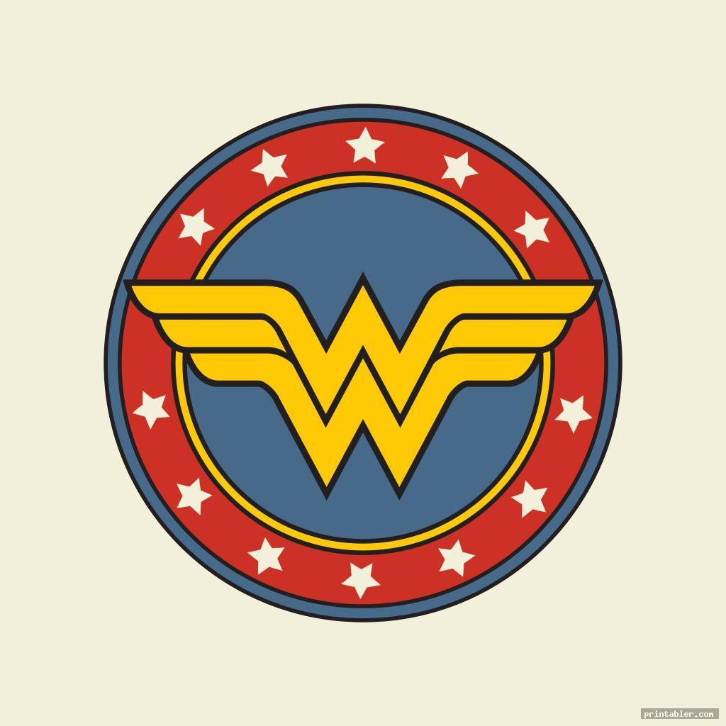 wonder woman superhero logos printable