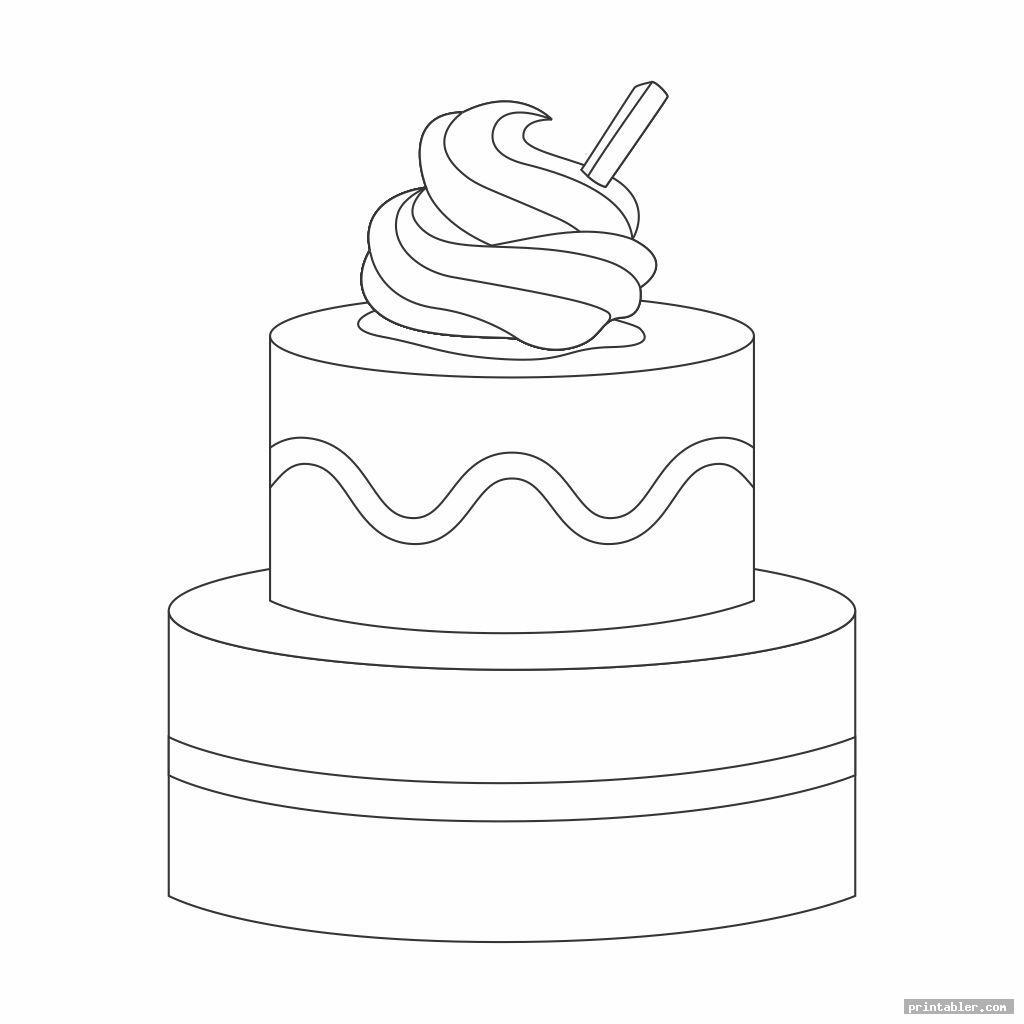 2 tier cake template printable image free