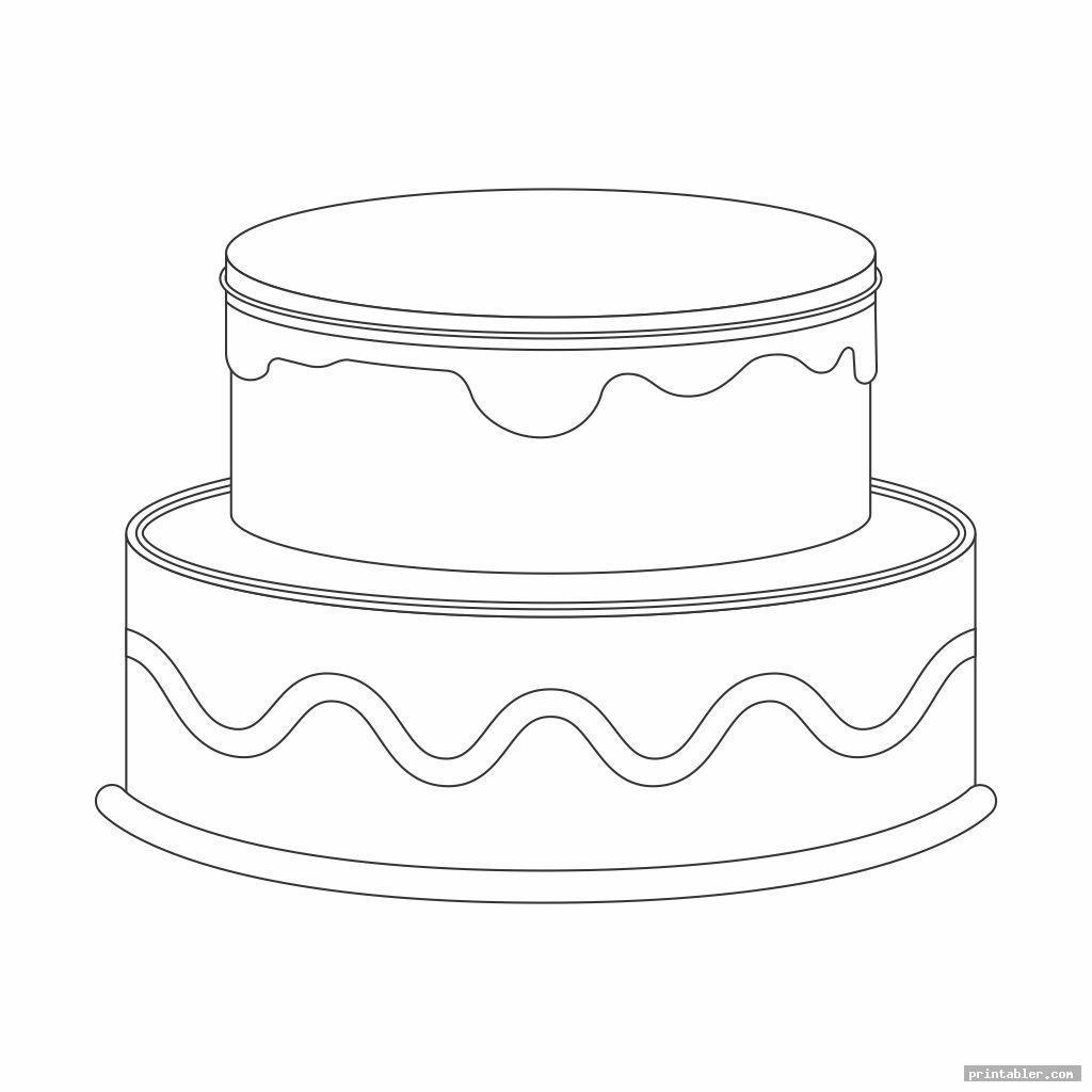 basic 2 tier cake template printable