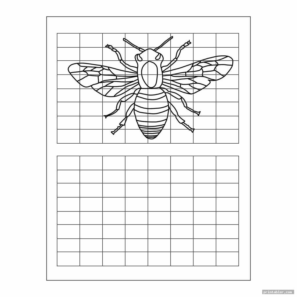 Grid Art Worksheets Printable