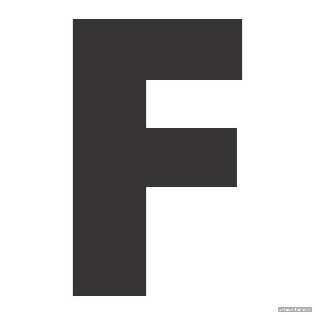 basic large letter f template printable