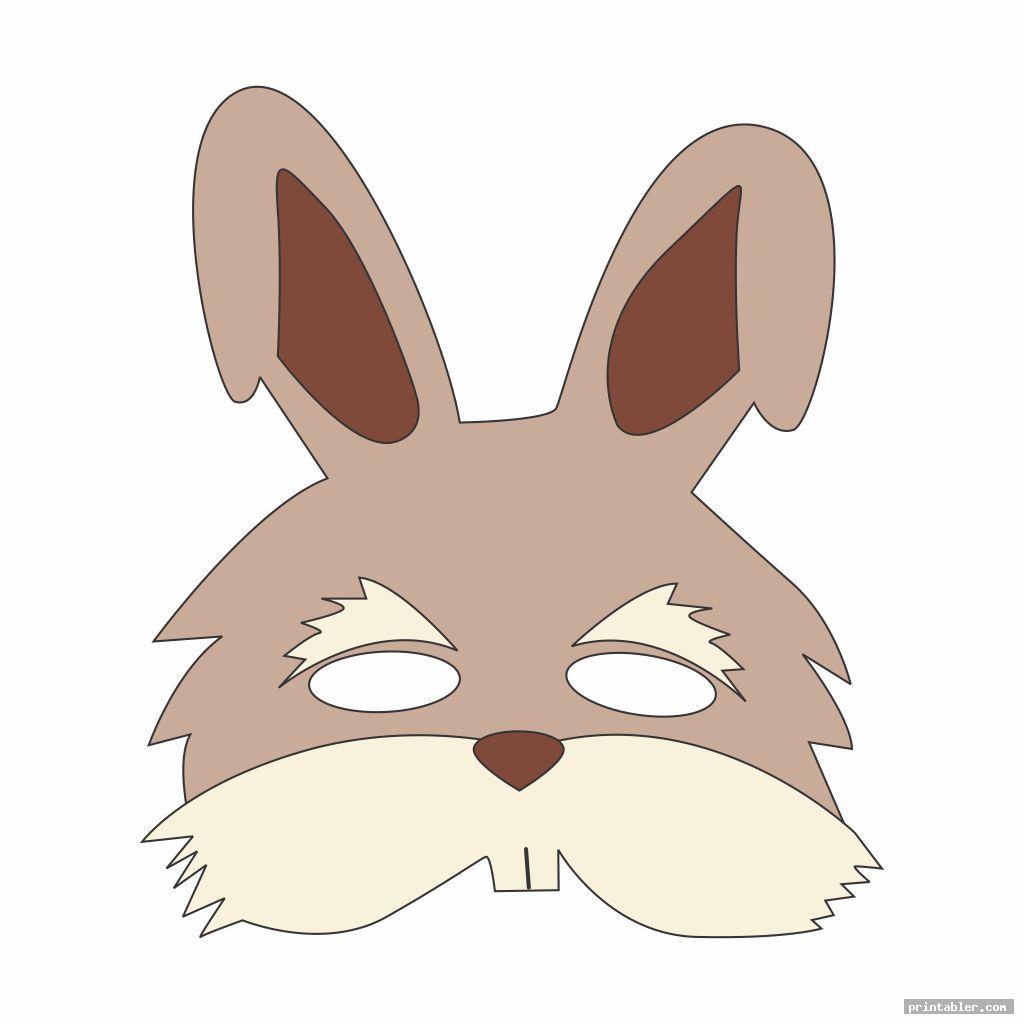 Rabbit Face Mask Template Printable