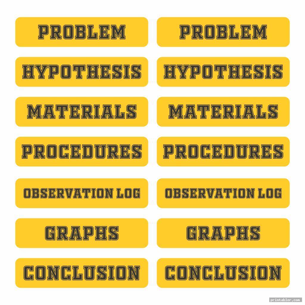 basic science fair labels templates printable