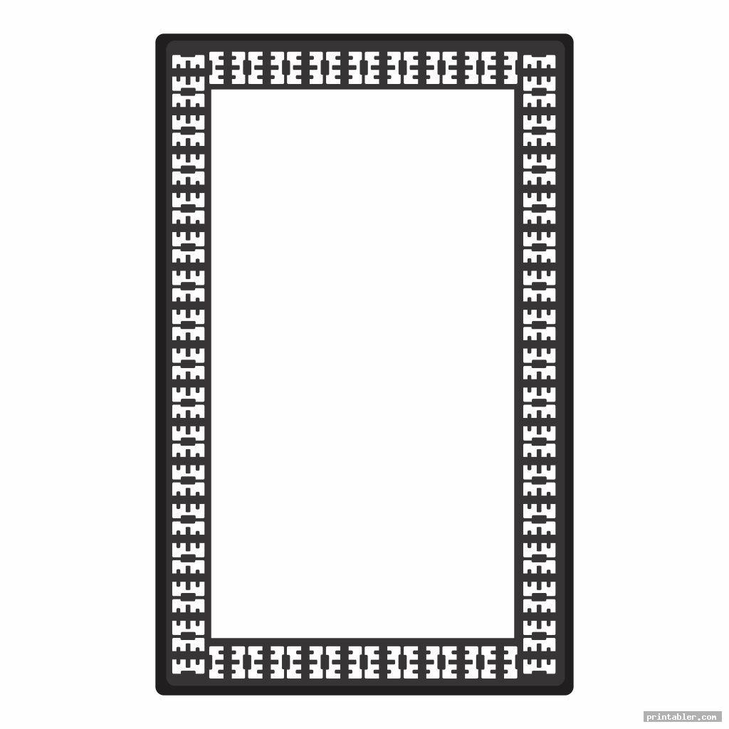 basic stationery black and white printable