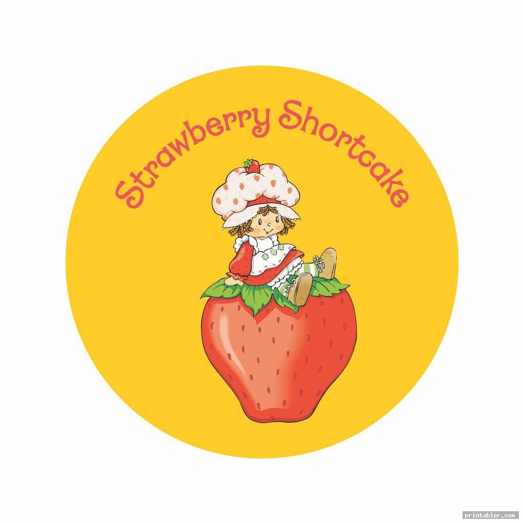 basic strawberry shortcake labels printable