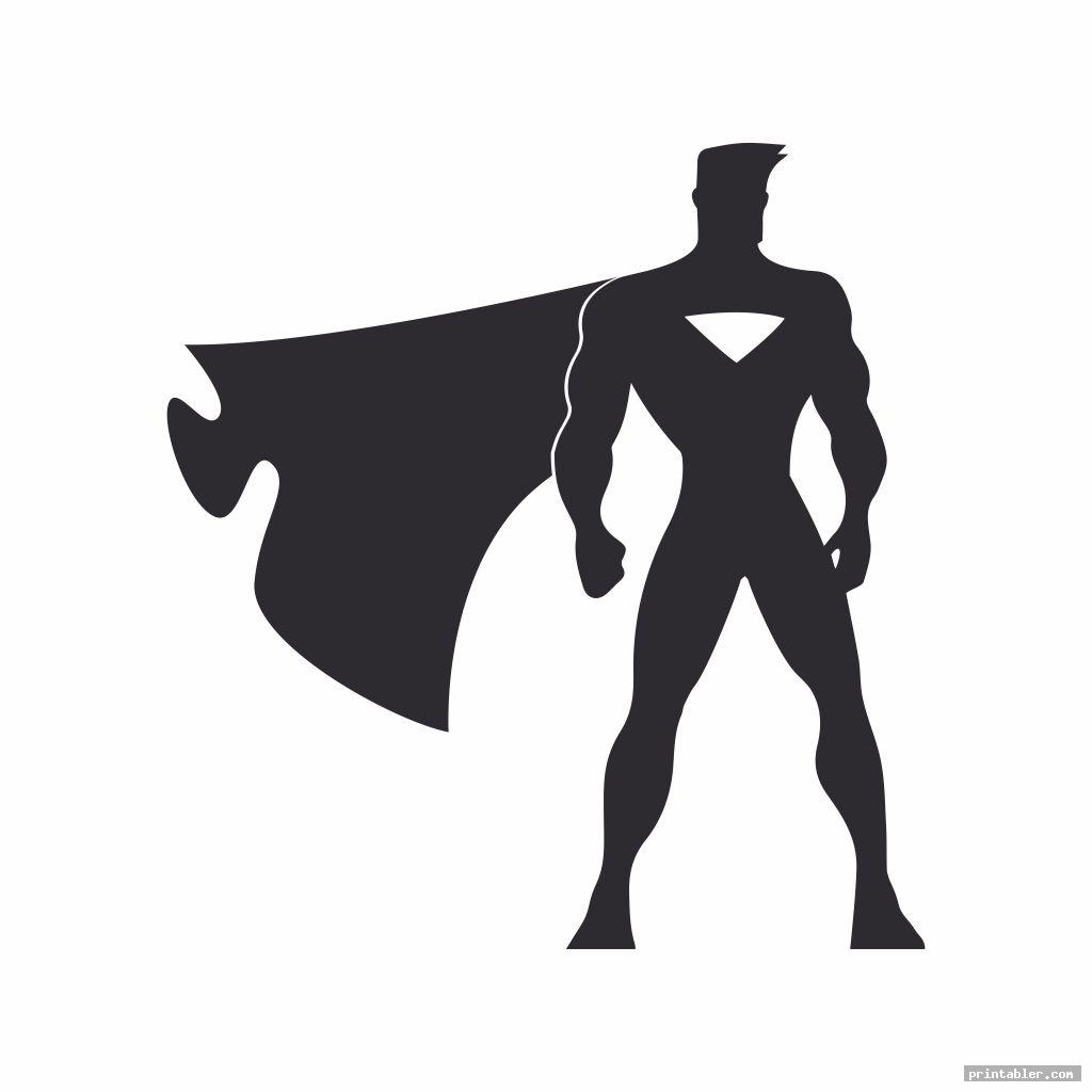 basic superman stencil printable