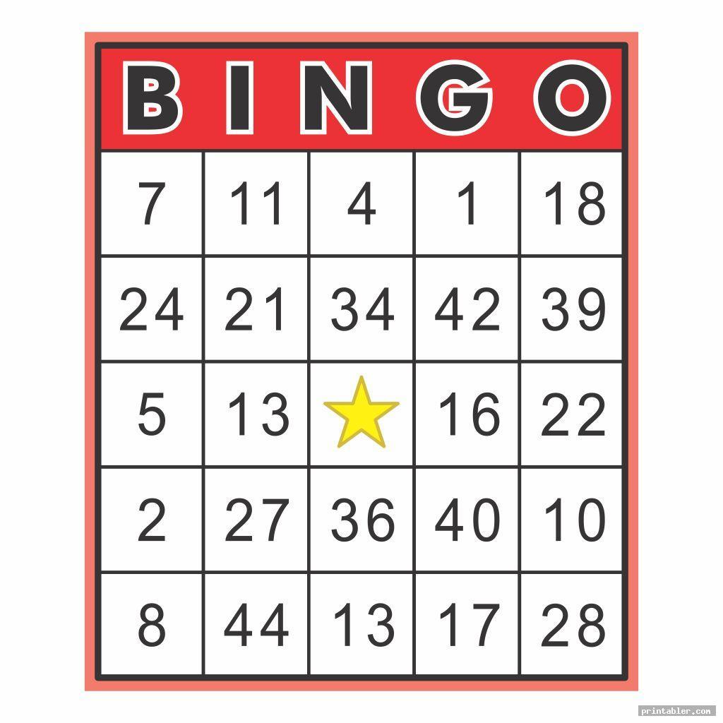 Bingo Call Sheet Printable