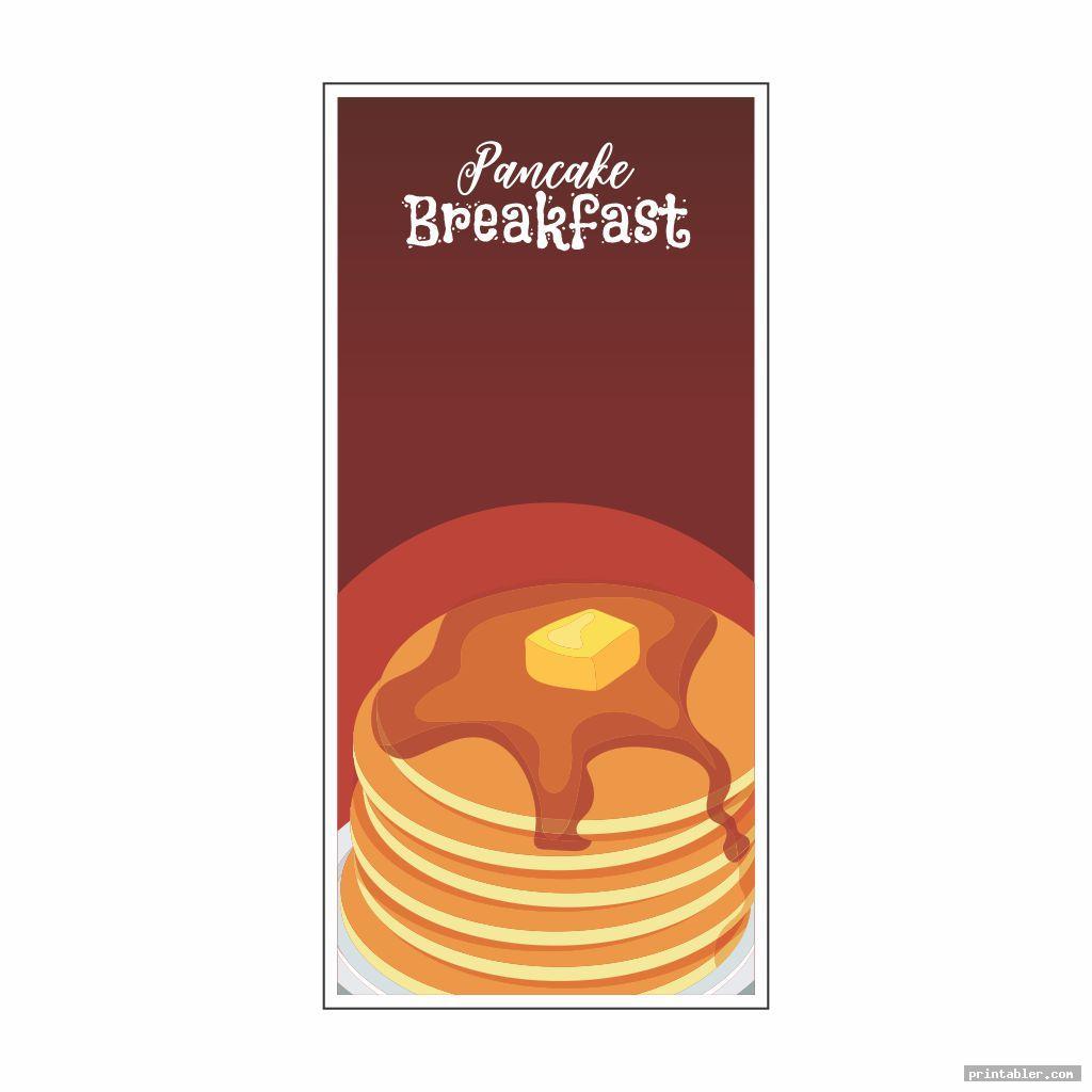 blank pancake breakfast ticket template printable