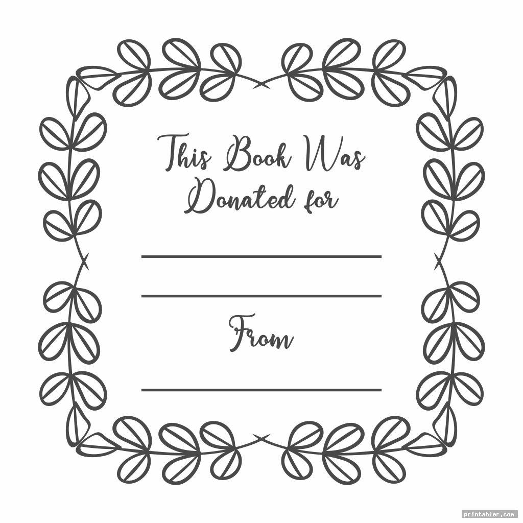 bookplates for donated books printable image free