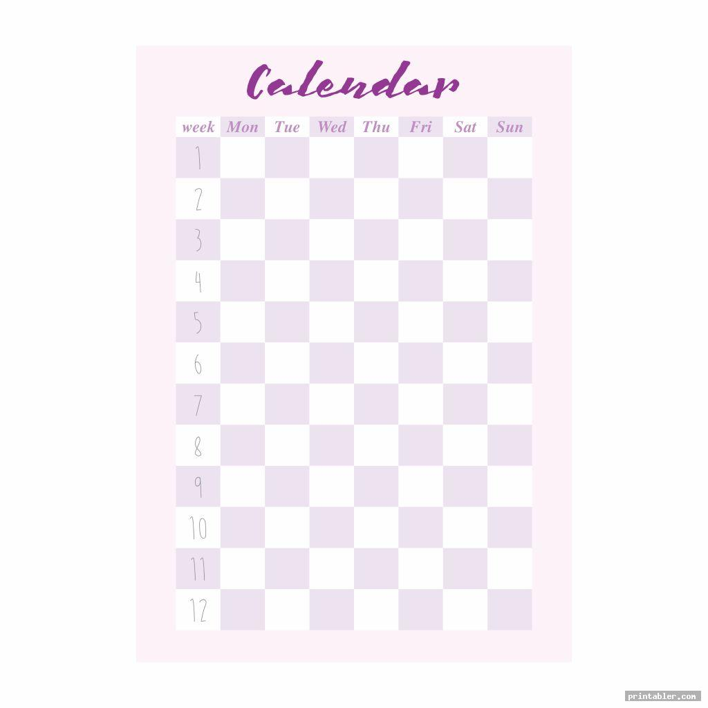 calendar college binder s printable