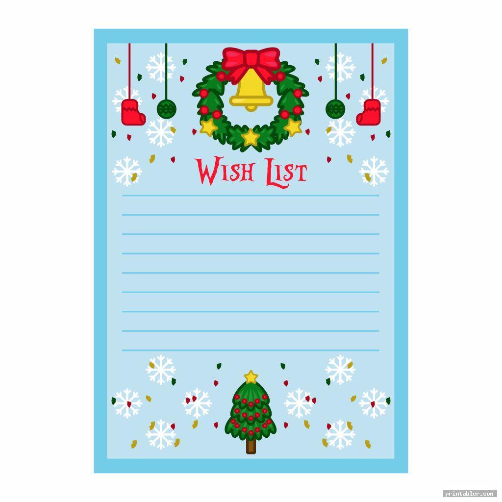 Birthday Wish List Template Printable