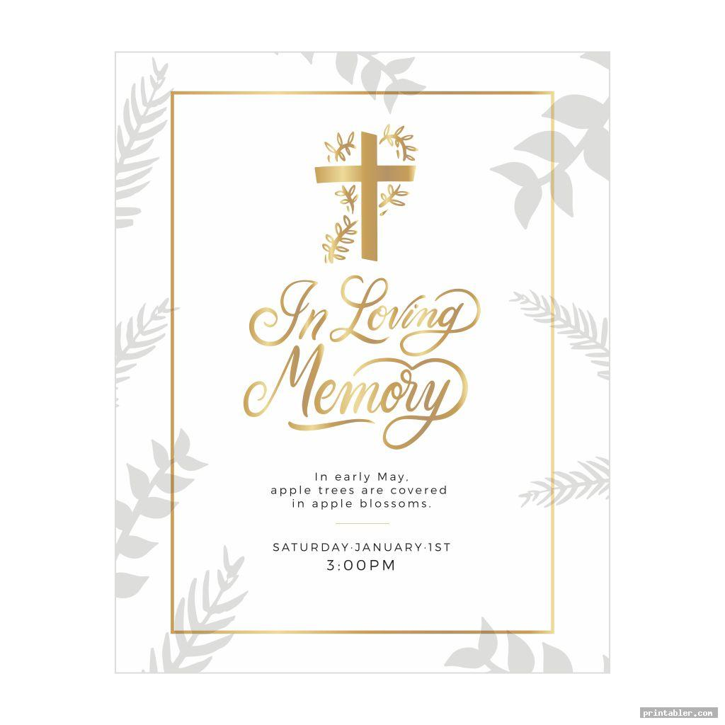 classic funeral memory cards templates printable