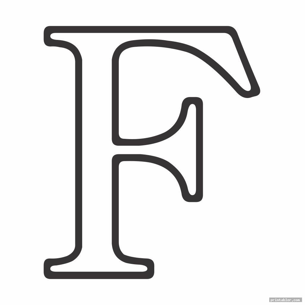 classic large letter f template printable