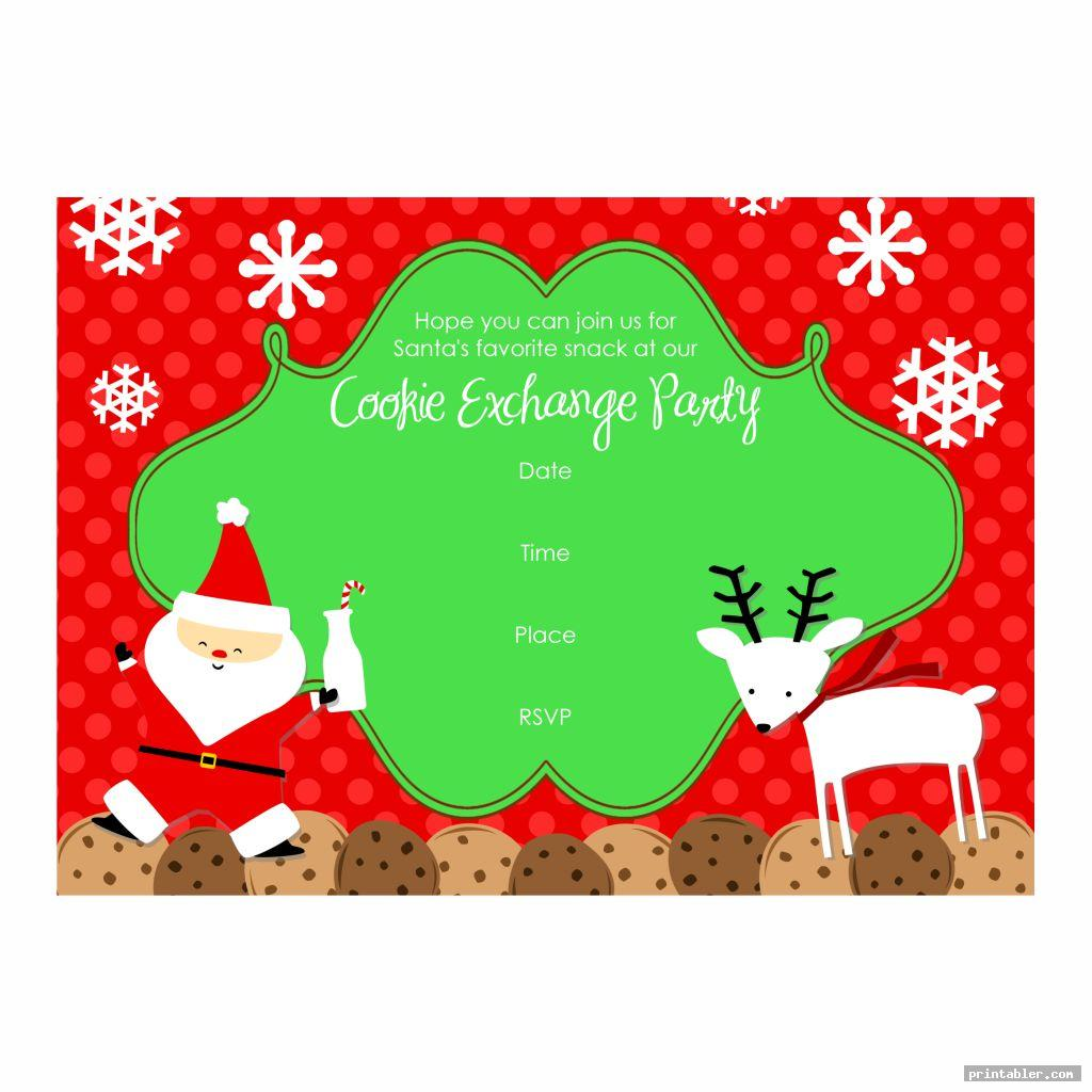 colorful cookie exchange template printable