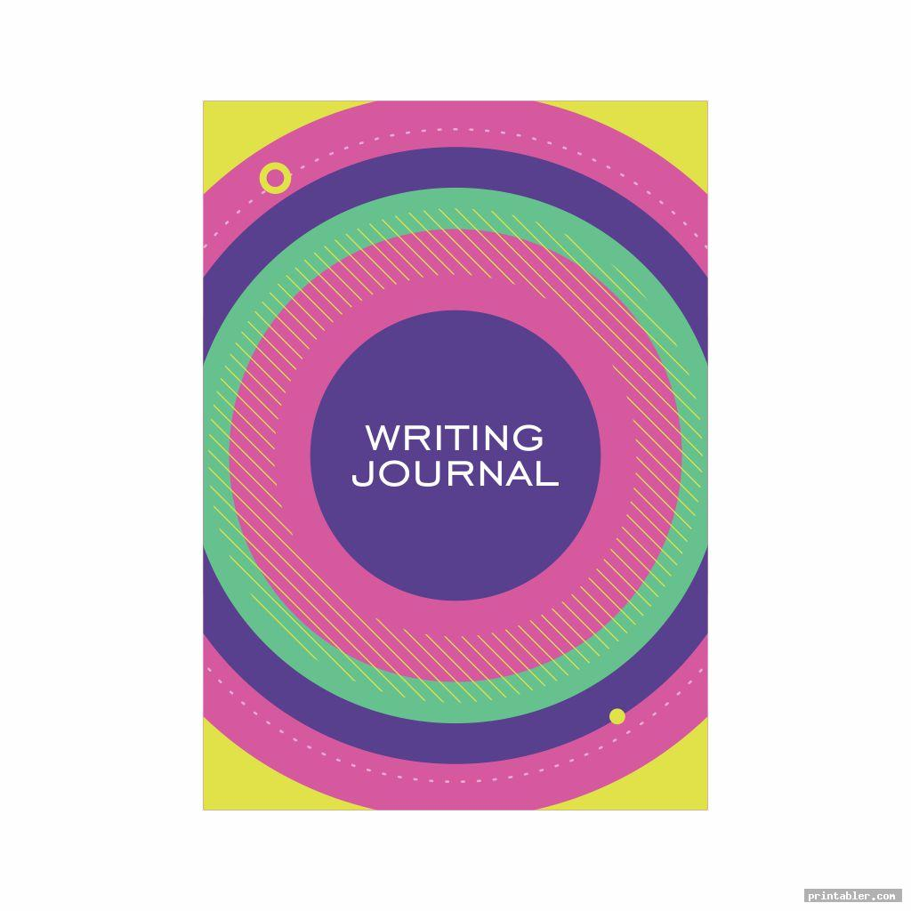 colorful writing journal cover printable