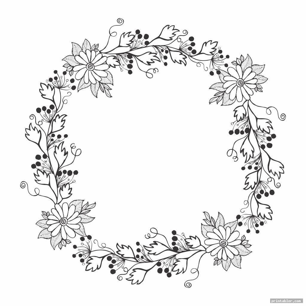 complicated wreath patterns printable