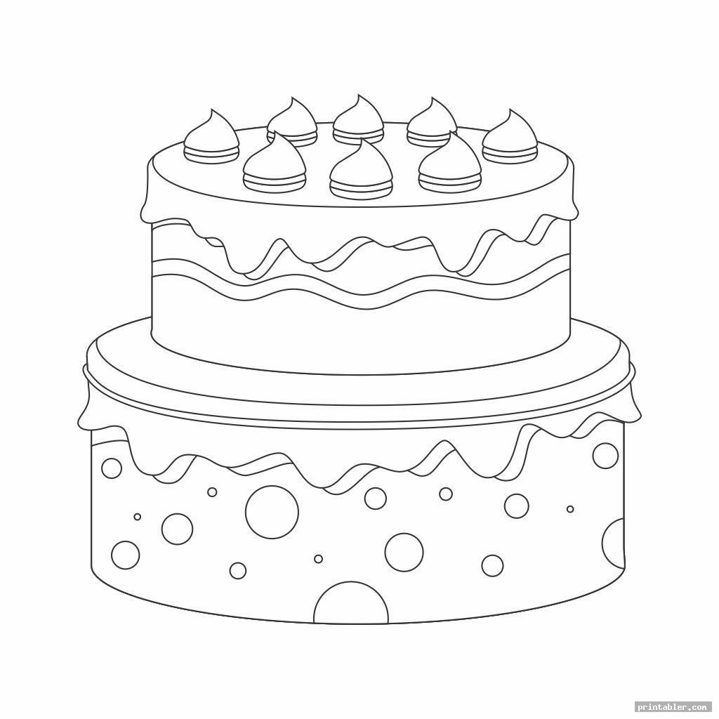 cool 2 tier cake template printable