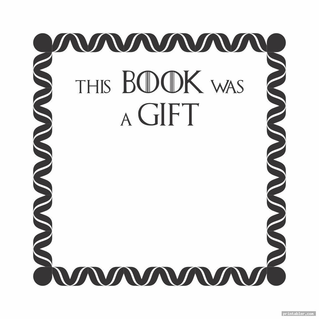 cool bookplates for donated books printable