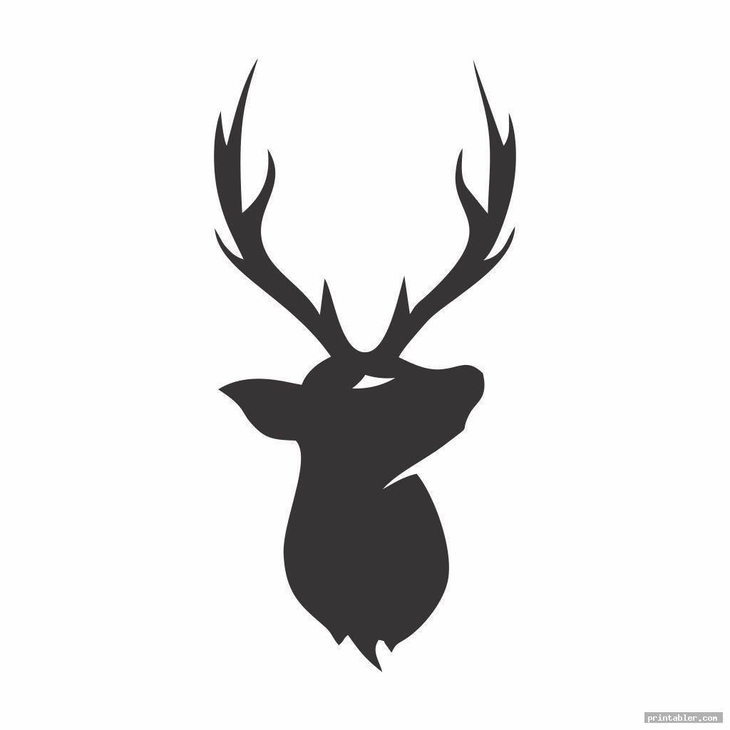 cool deer pumpkin pattern printable