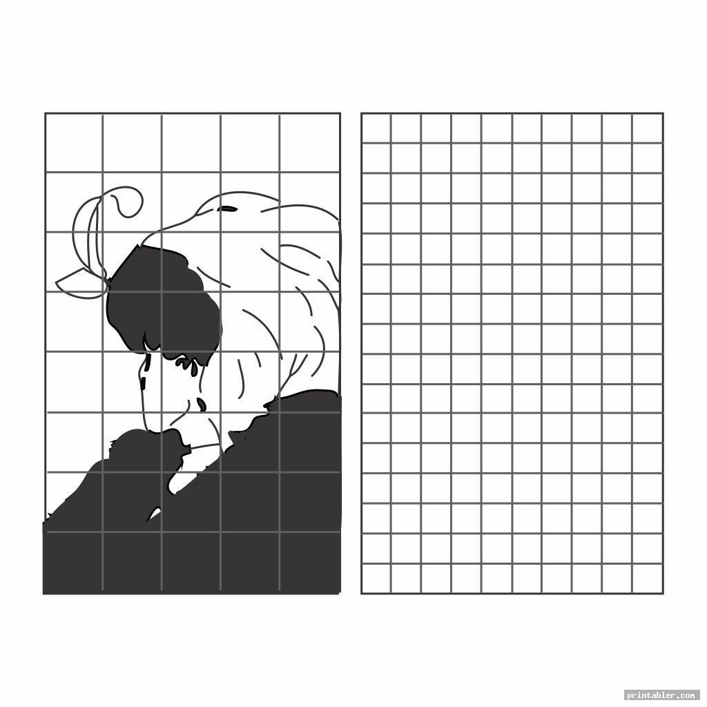 cool grid art worksheets printable