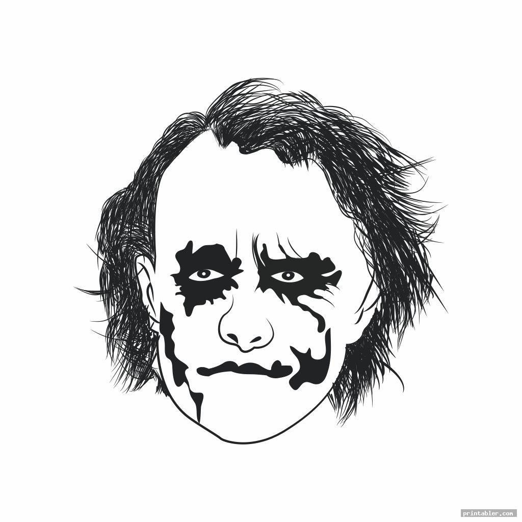 Joker Pumpkin Template Printable