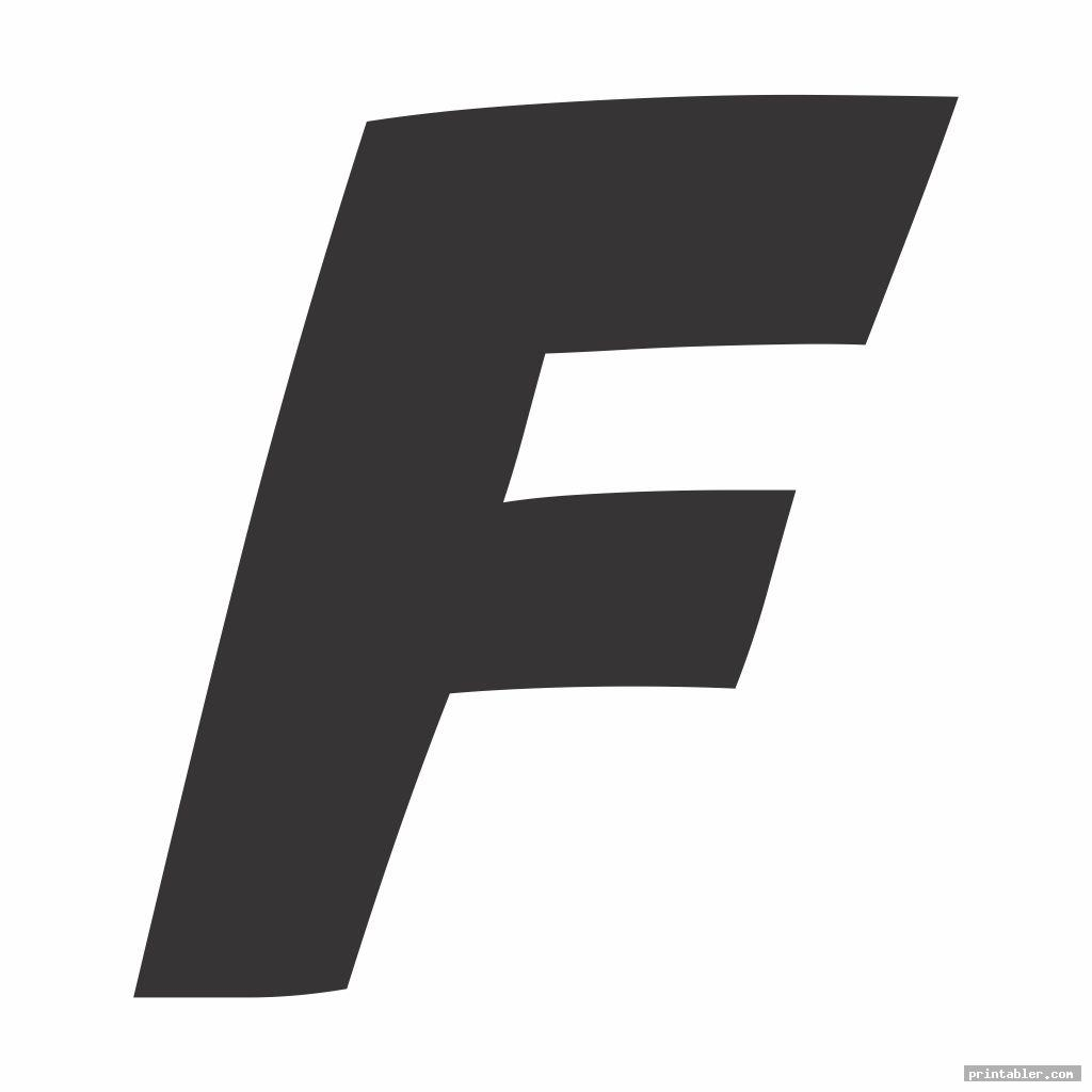 cool large letter f template printable