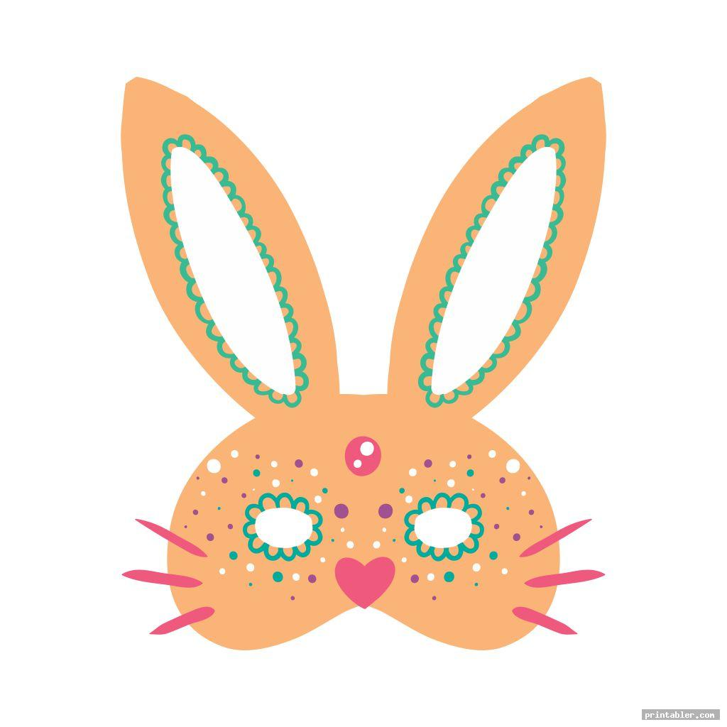 cool rabbit face mask template printable