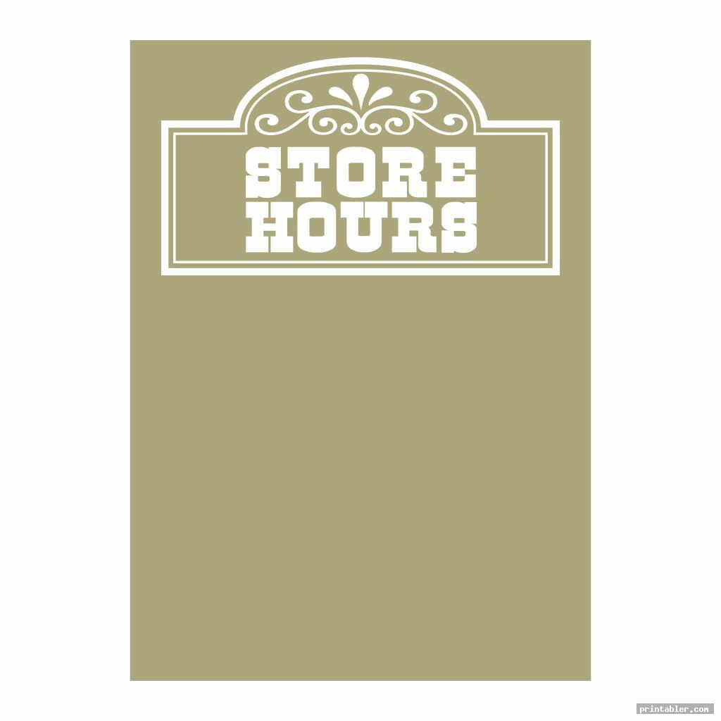 cool store hours sign template printable