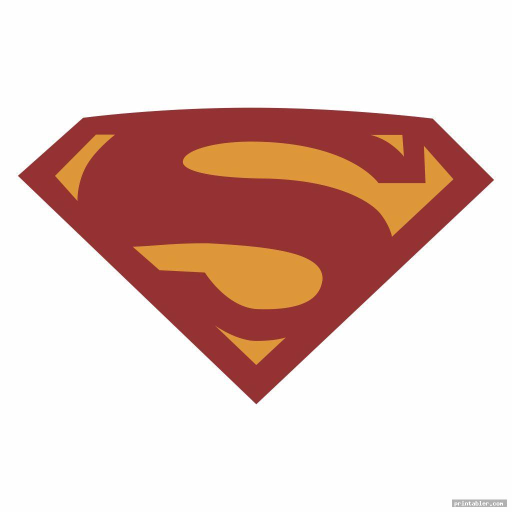 cool superman logo template printable