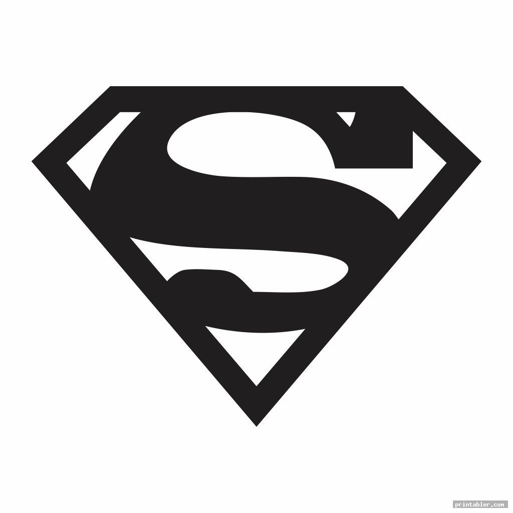 cool superman stencil printable