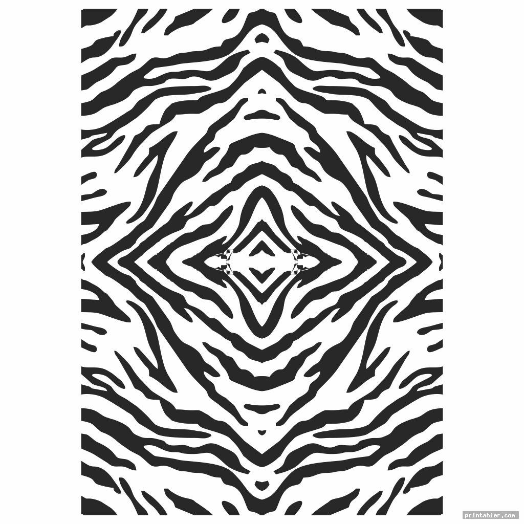 Tiger Stripe Camo Stencil Printable